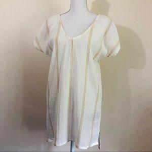 Cool BILLABONG 100% cotton shirt dress, open back